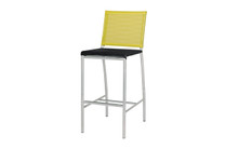 NATUN Bar Chair - Stainless Steel, Batyline Standard (black/lime)