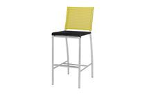 NATUN Bar Chair - Stainless Steel, Batyline Standard (black/lime)