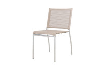 NATUN Side Chair - Stainless Steel, Batyline Canatex (hemp)