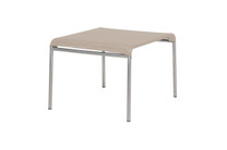 NATUN Footstool - Stainless Steel, Batyline Canatex (hemp)