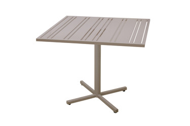 "YUYUP Bistro Table 35.5"" - Powder-coated galvanized steel frame (taupe), Powder-coated aluminum top (taupe)"