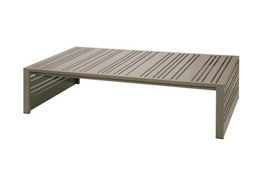 YUYUP Coffee Table - Powder-coated aluminum (taupe)