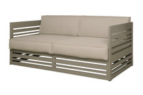 YUYUP Sofa 2-Seater - Powder-coated aluminum (taupe), Sunbrella Canvas (taupe)