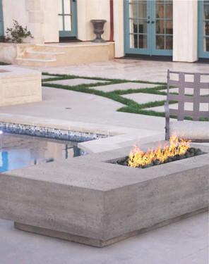 Tavola V Fire Table (pewter)