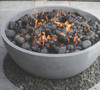 Moderno II Fire Pit - (glass fiber reinforced cement in pewter)