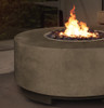 Rotondo Fire Pit (glass-fiber reinforced cement in pewter)