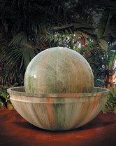 Ball and Bowl Fountain (GFRC in Custom finish)
