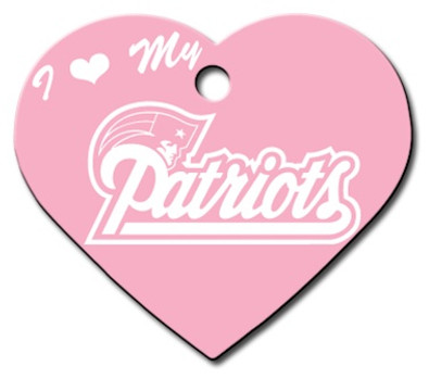 New England Patriots PINK Pet ID Tag - With Engraving