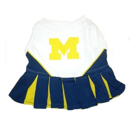 Michigan Wolverines Dog Cheerleader Outfit