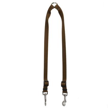 Solid Brown Coupler Dog Leash