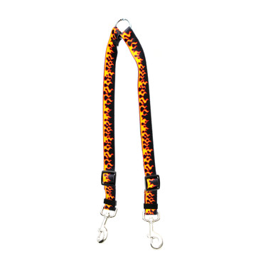 Red Flames Coupler Dog Leash