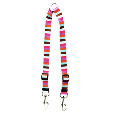 Multi-Stripe Coupler Dog Leash