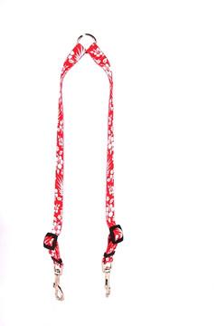 Aloha Red Coupler Dog Leash