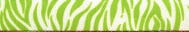 "Zebra Green Roman Style ""H"" Dog Harness"