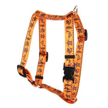 "Tribal Seas Orange Roman Style ""H"" Dog Harness"