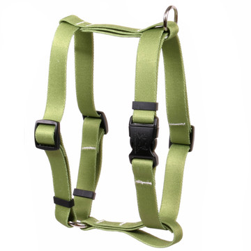 """Solid Olive Roman Style """"H"""" Dog Harness"""