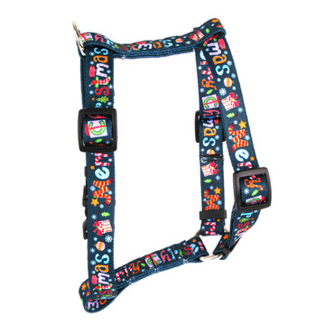 "Merry Christmas Roman Style ""H"" Dog Harness"
