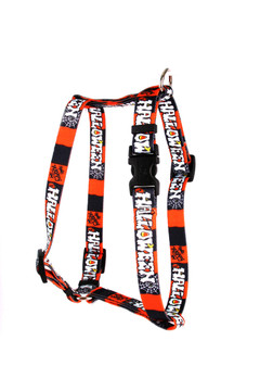 "Happy Halloween Roman Style ""H"" Dog Harness"