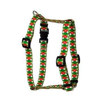 "Christmas Cheer Roman Style ""H"" Dog Harness"
