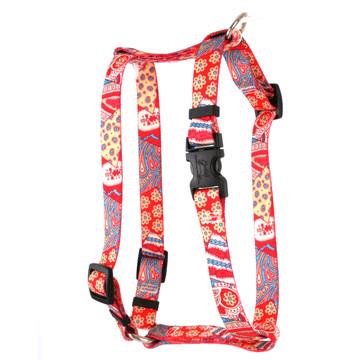 "Bohemian Patchwork Roman Style ""H"" Dog Harness"