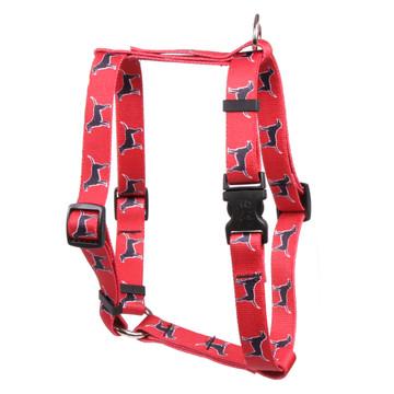 "Black Lab Roman Style ""H"" Dog Harness"