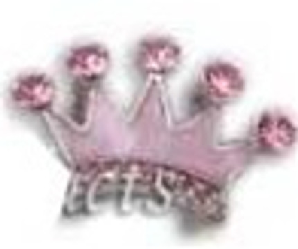 Crown Charm - Pink (10mm)