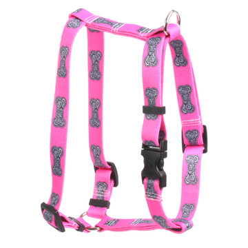 "Bella Bone Pink Roman Style ""H"" Dog Harness"