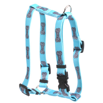 "Bella Bone Blue Roman Style ""H"" Dog Harness"
