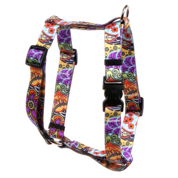 """Amazon Floral Roman Style """"H"""" Dog Harness"""