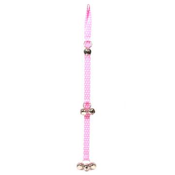 New Pink Polka Dot Ding Dog Bells Training System