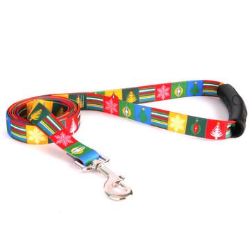 Holiday Blocks EZ-Grip Dog Leash