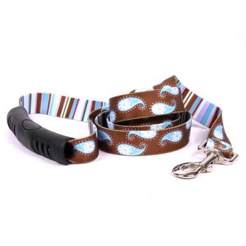 Brown Paisley EZ-Grip Dog Leash