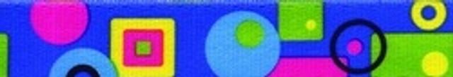 Blue Geometric EZ-Grip Dog Leash