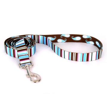 Brown Stripes Dog Leash