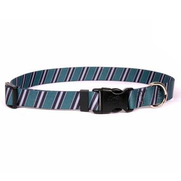 Team Spirit Green, Black and Silver Dog Collar