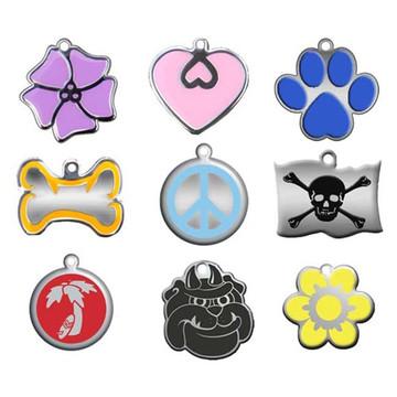 """""""Steel"""" & Enamel Engraved Engraved Pet ID Tag"""