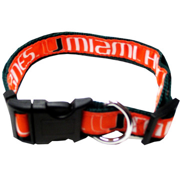 Miami Hurricanes Dog Collar