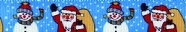 Santa and Snowman Waist Walker