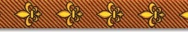 Fleur de Lis Gold Waist Walker