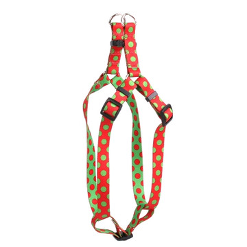 Christmas Polka Dot Step-In Dog Harness