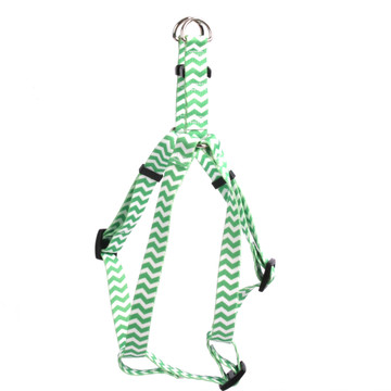 Chevron - Lime Step-In Dog Harness
