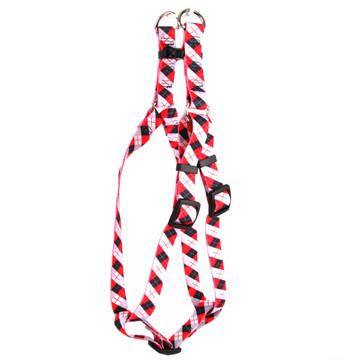 Black Argyle Step-In Dog Harness