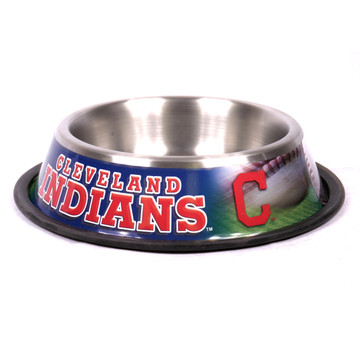 Cleveland Indians Stainless Steel MLB Dog Bowl