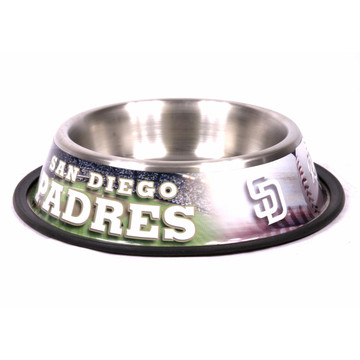 San Diego Padres Stainless Steel MLB Dog Bowl