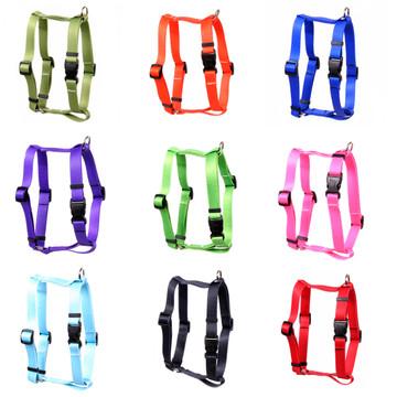"Simple Solids Roman ""H"" Dog Harness"