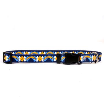 San Diego Chargers Argyle Dog Collar