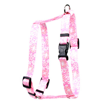 """Pink Lace Flowers Roman Style """"H"""" Dog Harness"""