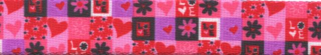 Valentines Blocks Coupler Dog Leash