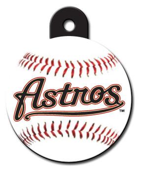 Houston Astros ROUND Engraved Dog ID Tag