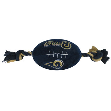 LA Rams NFL Squeaker Football Toy